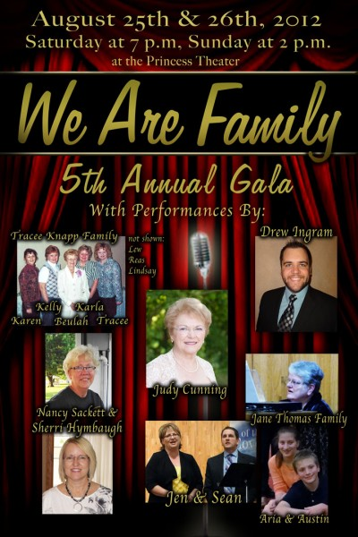 We Are Family -- 5th Annual Gala at the Princess Theater in Mt. Ayr, IA